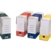 Boîte archive : entreposer des dossiers pour une longue durée de conservation. Archivage.